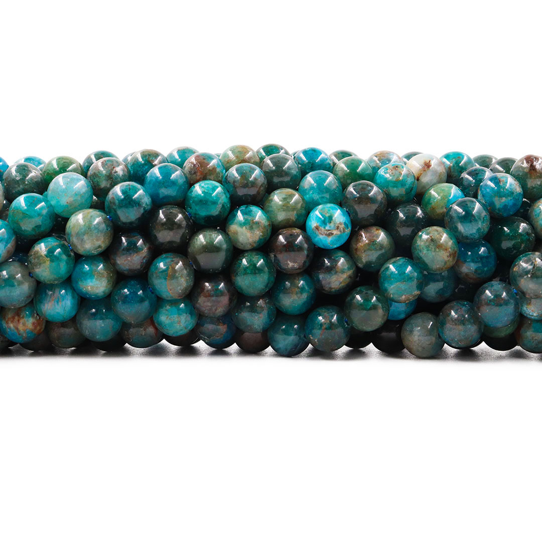 Apatita Mesclada Natural Fio com Esferas de 8mm - F002  - ArtStones