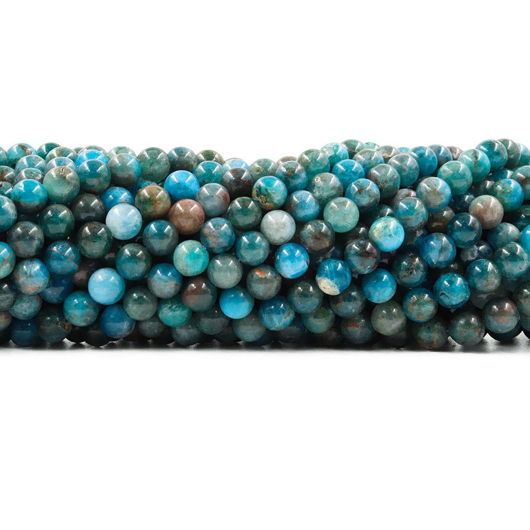 Apatita Natural Fio com Esferas de 6mm - F001  - ArtStones