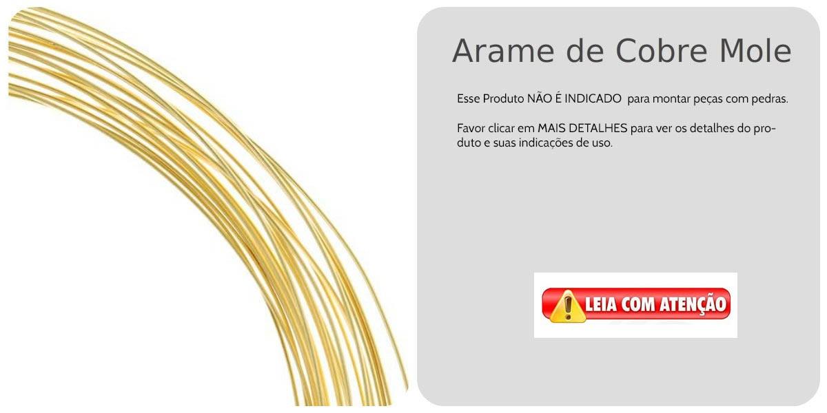 Arame de Cobre Copper Espessura 0.50mm Folheado a Ouro - Metro - AR_138  - ArtStones
