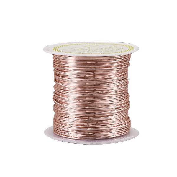 Arame de Cobre Copper Espessura 0.70mm Folheado - Metro - AR002  - ArtStones
