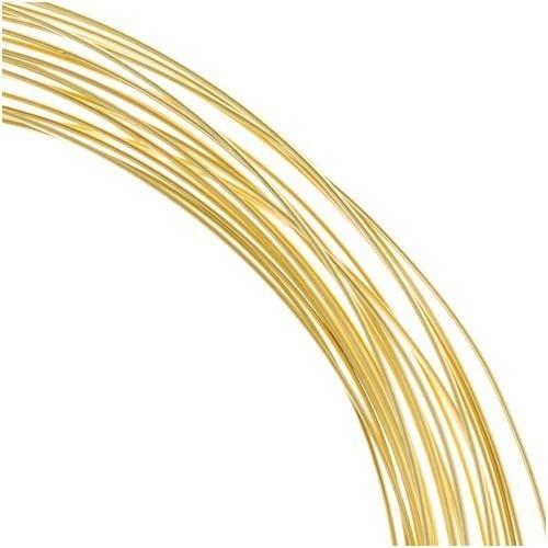 Arame Latão Folheado a Ouro Espessura 0.70mm - Metro - AR_103  - ArtStones
