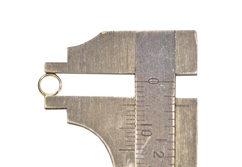 Argola Aberta 5x0.80mm Folheada 02 Gramas - FO021  - ArtStones
