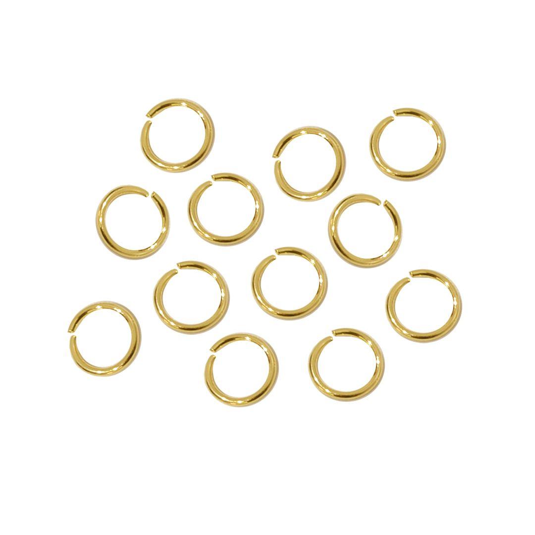 Argola Aberta 6.5x0.80mm Folheada 02 Gramas - FO069  - ArtStones