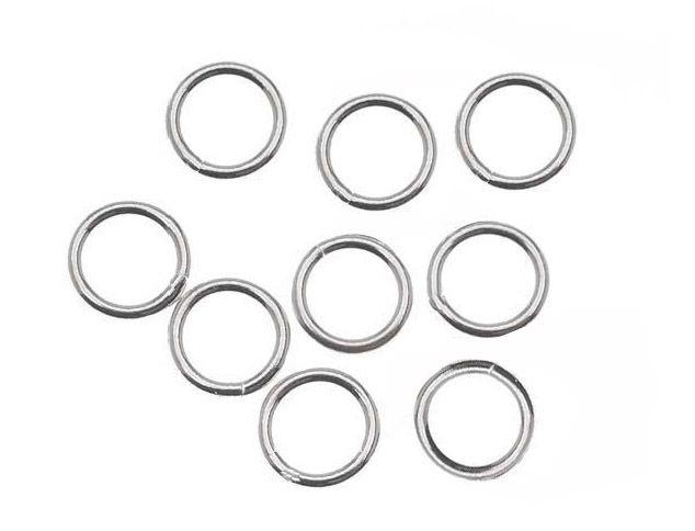 Argola em Prata 950 Fechada 6x1.2 - 6 Peças - PR035  - ArtStones