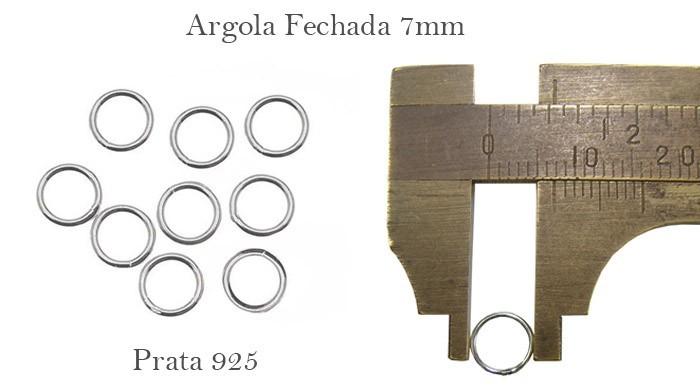 Argola em Prata 950 Fechada 7x0.60 - 10 Peças - PR026  - ArtStones