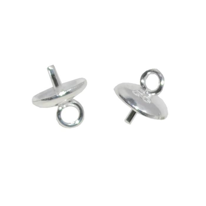 Base Chupeta em Prata 950 4.5mm - 4 Peças - PR045  - ArtStones