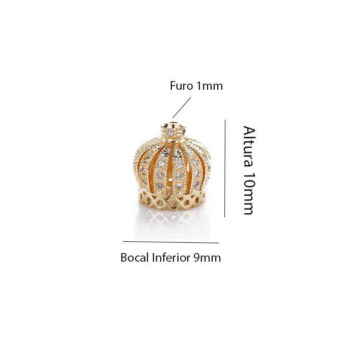 Berloque Coroa Charme 10mm com Zircônias  - AM132  - ArtStones