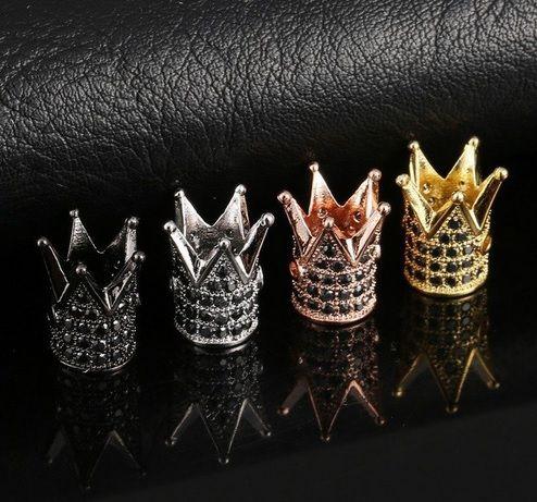 Berloque Coroa com Zircônias Negras - 01 Peça - AM000  - ArtStones