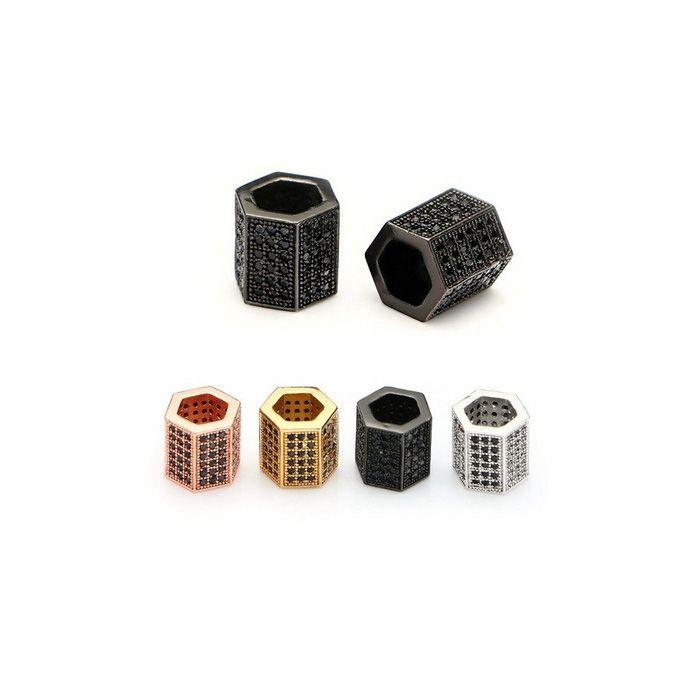 Berloque Rolete com Micro Zircônias 7x8mm - 01 Peça - BL_214  - ArtStones