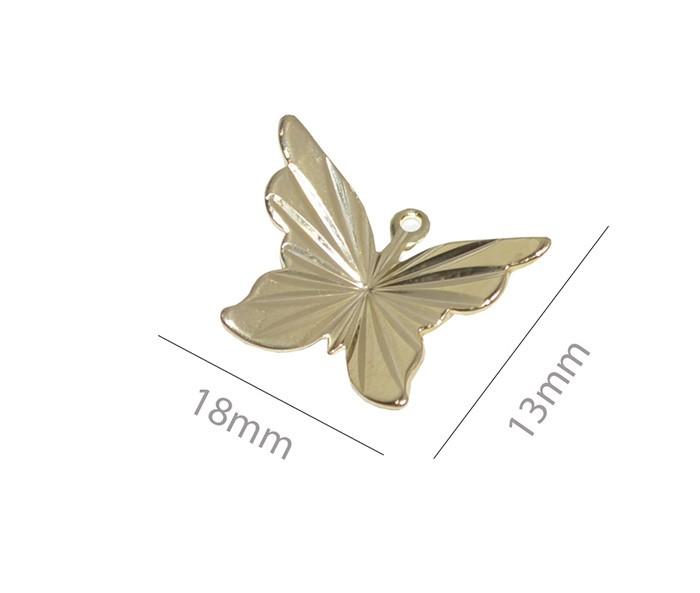 Penduricalho Borboleta 18x13mm Folheado a Ouro - 02 Peças - PEF_111  - ArtStones