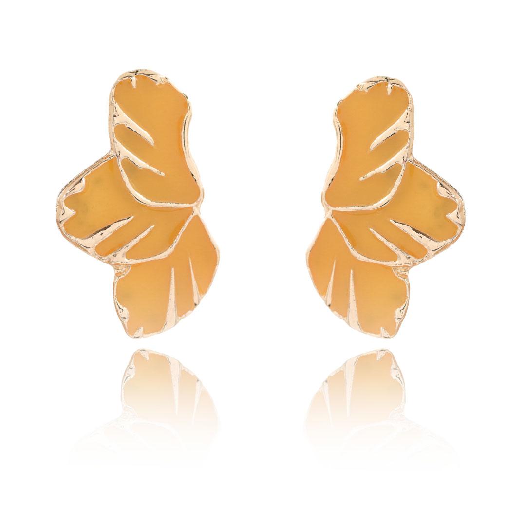 Brinco Asa de Borboleta Metal Dourado - 37mm - Cores Variadas - 01 Par - AM060  - ArtStones