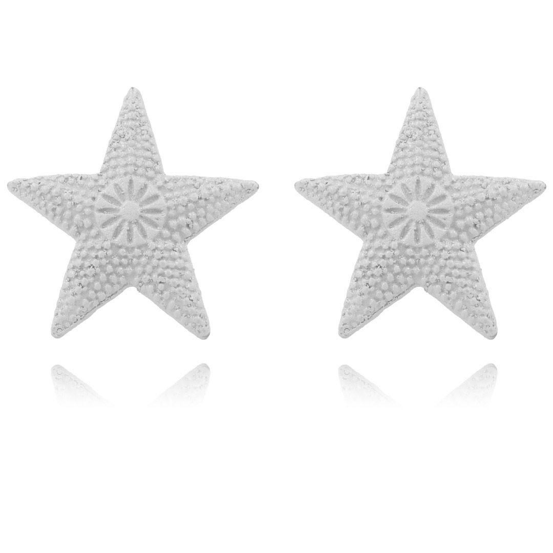 Brinco Estrela Do Mar Summer Collors Metal 25mm - 03 pares - AM233  - ArtStones