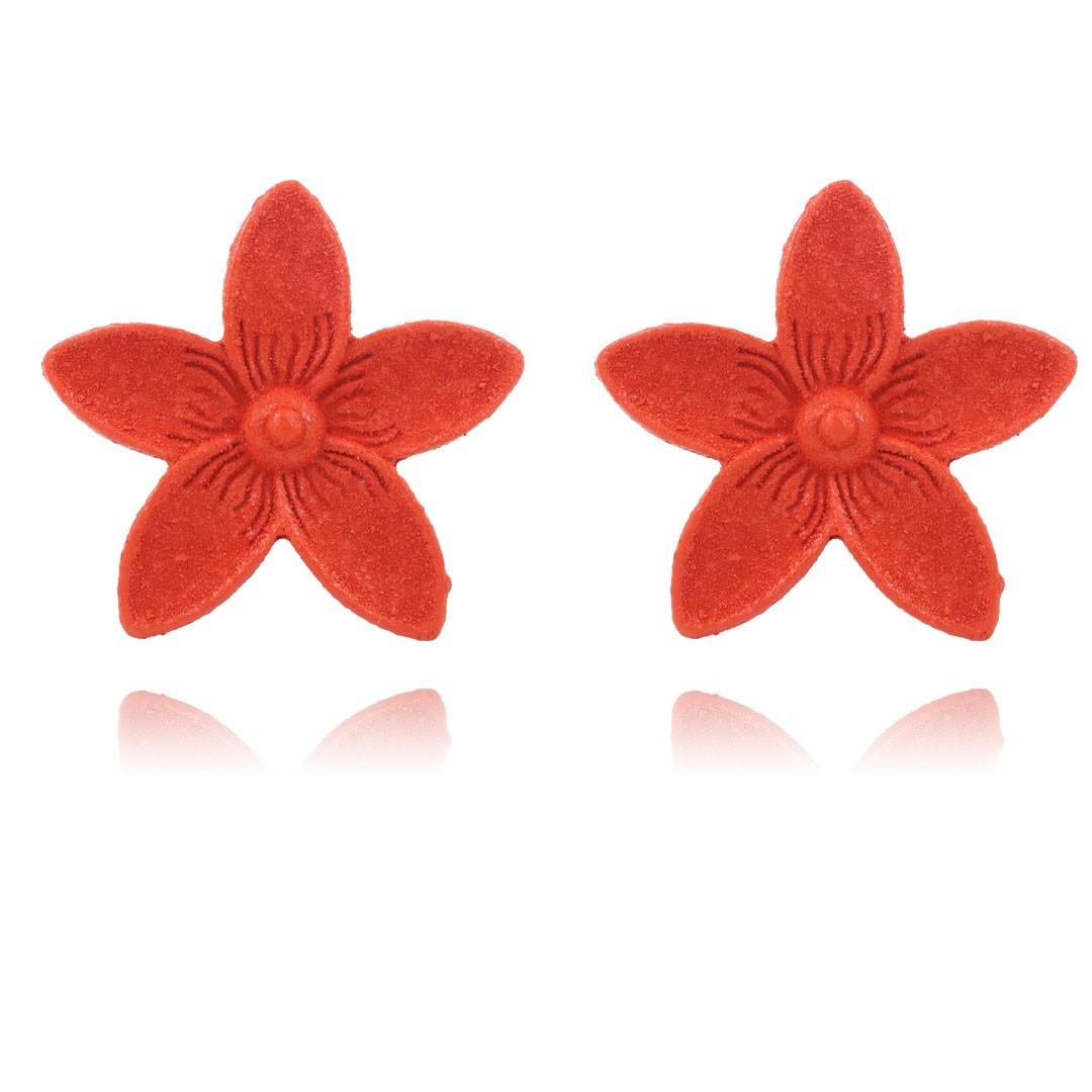 Brinco Flor Summer Collors Metal 29mm - Cores variadas - 03 pares - AM234  - ArtStones