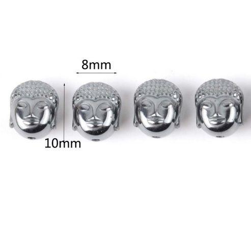Buda de Hematita Natural 10x8mm - 6 peças - PA027  - ArtStones