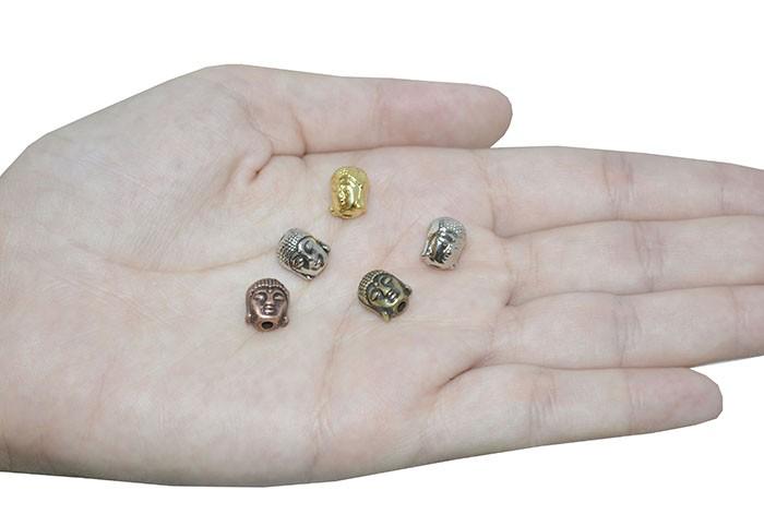 Buda de Metal 10x8mm Cores Variadas - 5 Peças - AM006  - ArtStones