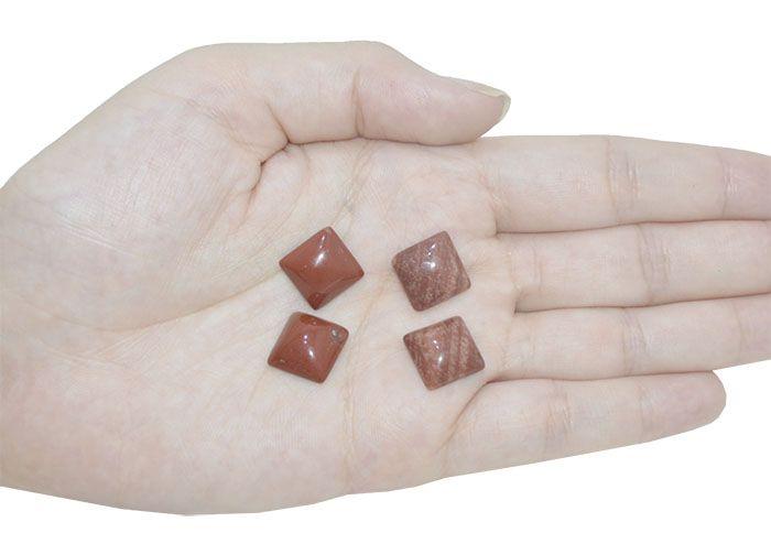 Cabochão de Jaspe Natural Quadrado 13mm - CAB_280  - ArtStones