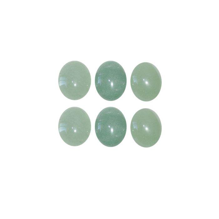 Cabochão Oval de Quartzo Verde 11x8mm - 2 Peças - CAB_290  - ArtStones