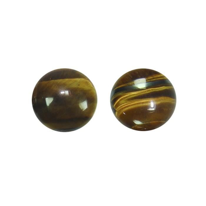 Cabochão Redondo de Olho de Tigre 18mm - CAB_156  - ArtStones