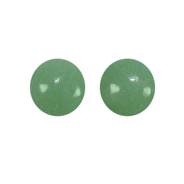 Cabochão Redondo de Quartzo Verde 16mm - CAB_168  - ArtStones