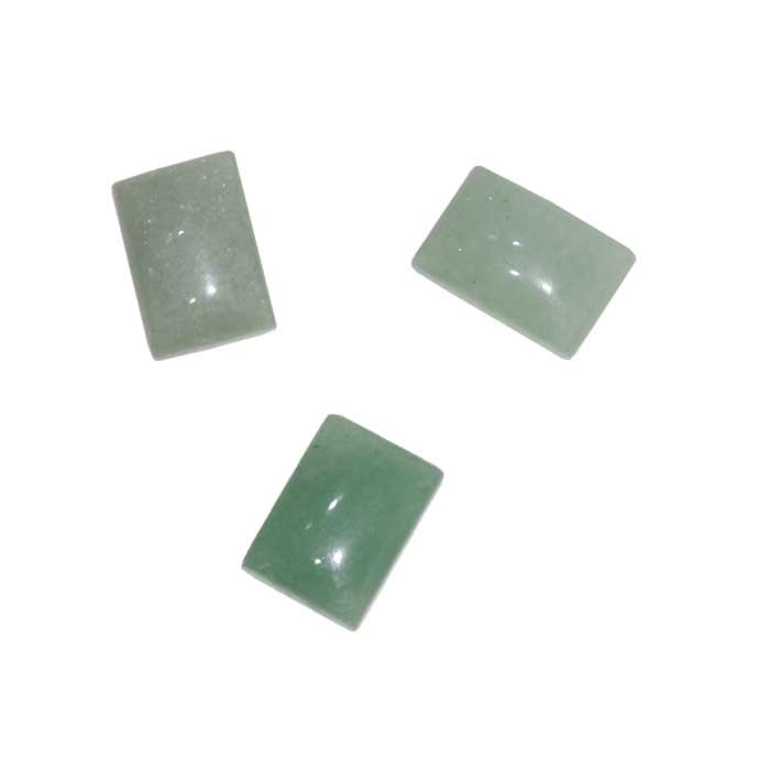Cabochão Retangular de Quartzo Verde 16x11mm - PA072  - ArtStones