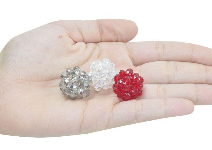 Cachinho de Cristal de Vidro 20mm Cores Variadas - 02 peças - CV208  - ArtStones