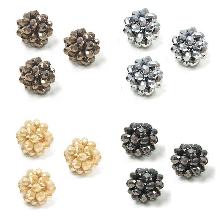 Cachinho de Cristal de Vidro 27mm Cores Variadas - 02 peças - CV209  - ArtStones