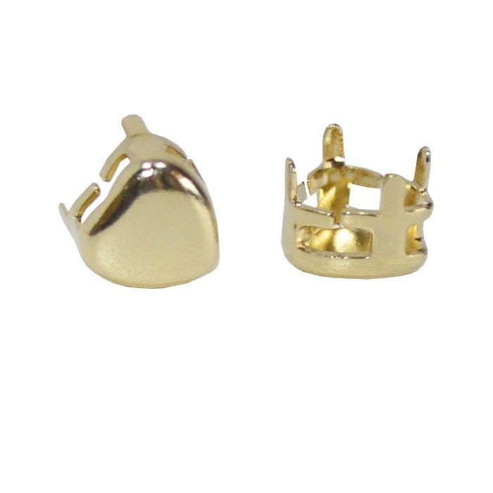 Caixa Coração com Fundo Tamanhos Variados - 4pcs -  F. a Ouro - CX_305  - ArtStones