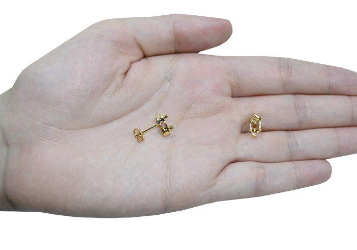 Caixa Galeria Brinco Navete F. a Ouro - Tamanhos Variados - Par - CX_128  - ArtStones