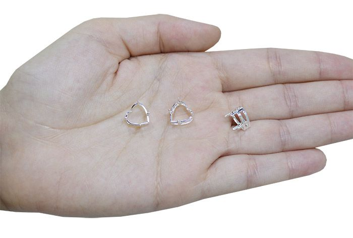 Caixa Galeria Coração F. a Prata Tamanhos Variados - 2 Peças - CXFO_114  - ArtStones
