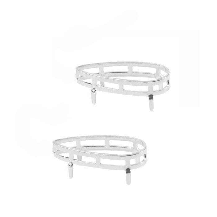 Caixa Gota para Pedra ou Cristal Folheada 15x30mm - 02 peças - FO319  - ArtStones