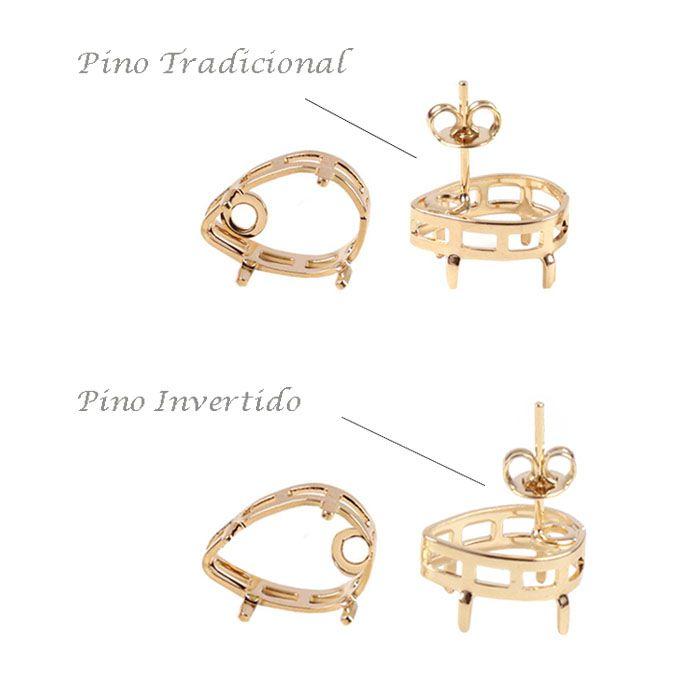 Caixa para Brinco Gota Pino Invetido F. a Ouro - Par - CX_134  - ArtStones