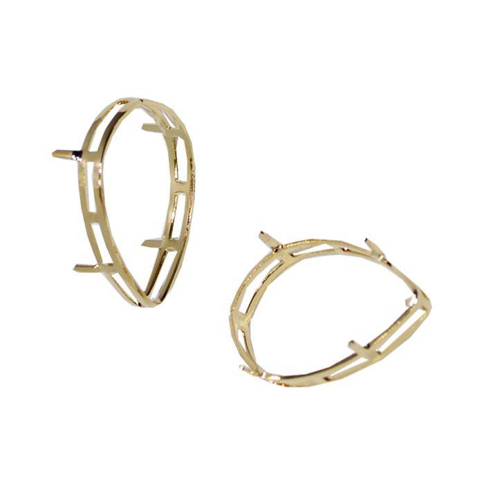 Caixa para Pedra Gota F. a Ouro - Tamanhos Variados - CX_206  - ArtStones