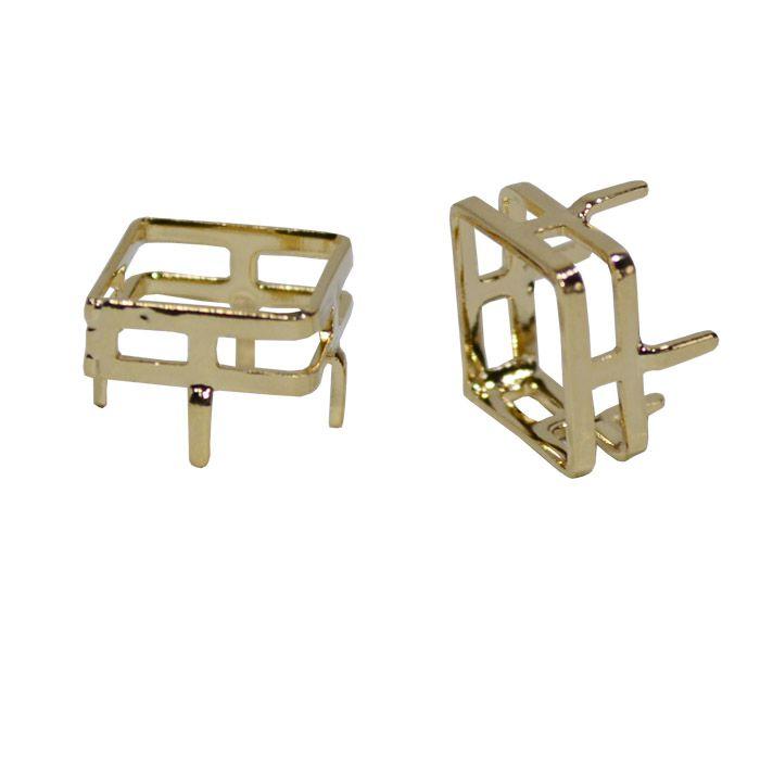 Caixa para Pedra Quadrada F. a Ouro - Tamanhos Variados - CX_208  - ArtStones