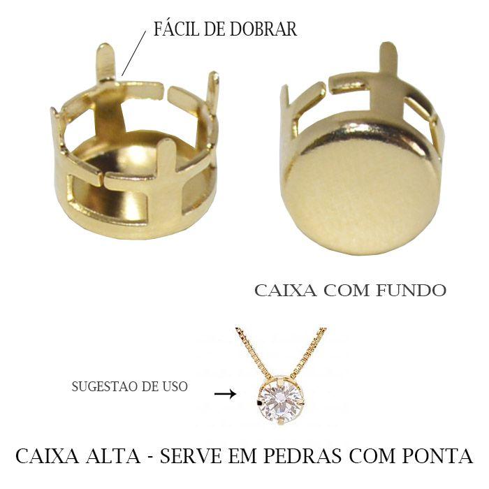 Caixa Redonda com Fundo Tamanhos Variados - 04 PCS -  F. a Ouro - CX_303  - ArtStones