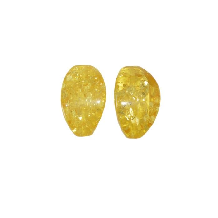 Resina Âmbar Formato Carambola 27x13mm - 4 peças - OM070  - ArtStones
