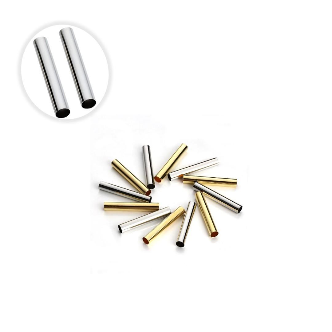 Canutilho  15x2mm Folheado a Ouro - 02 grs - ET_27FO  - ArtStones