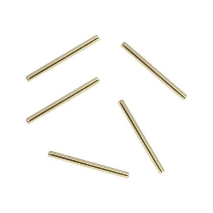 Canutilho 20x1mm Folheado  - 6 peças - FO115  - ArtStones