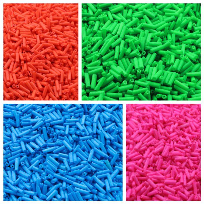 Canutilho Clay Colorido tipo Fimo 7mm para Pulseiras - 15 GRAMAS - OM017  - ArtStones