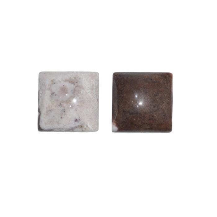 Cabochão Quadrado de Jaspe Brecha 15mm- CAB_29  - ArtStones