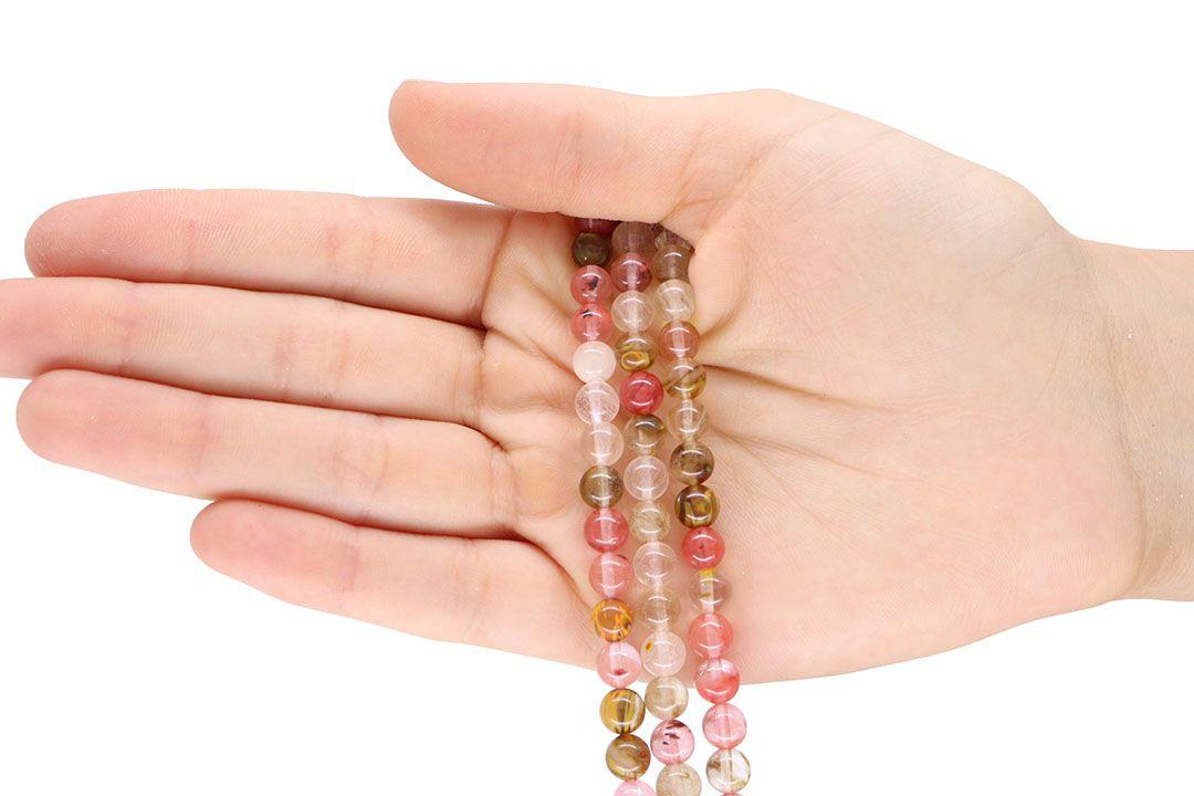 Fio de Cristal Cherry Mesclado Fio com Esferas de 6mm - F162  - ArtStones