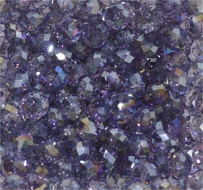 Cristal de Vidro Uva Imperial 8mm Boreal - 30 Peças - FCR_140  - ArtStones