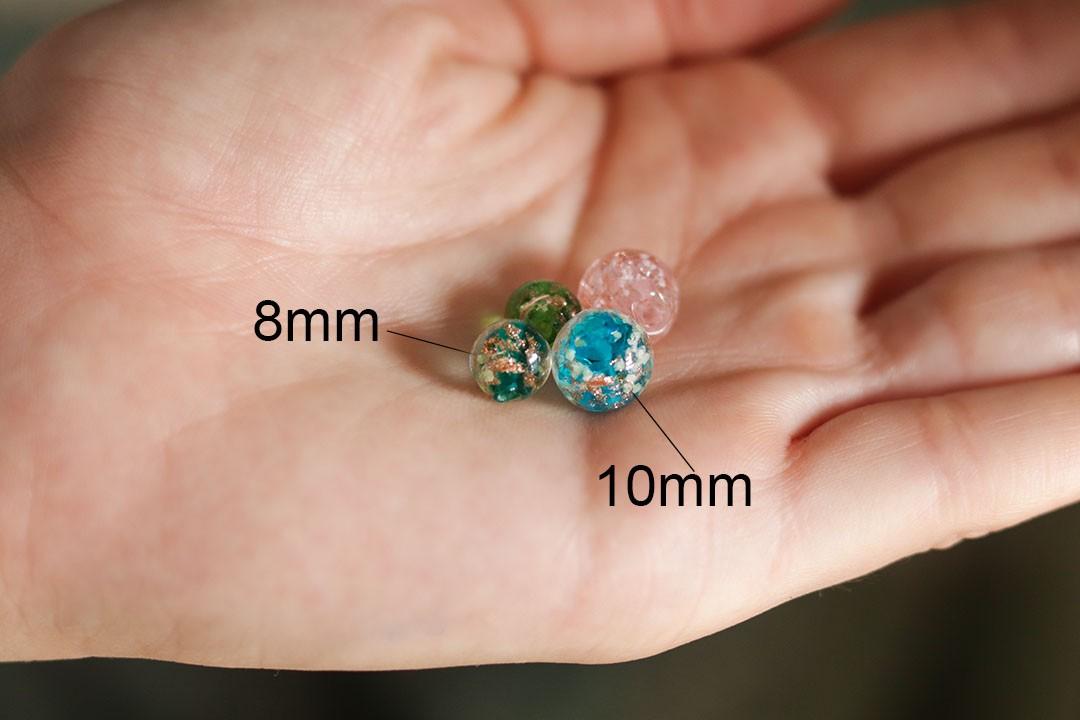 Contas de Murano Fluorescente Cores Variadas 8mm - CV522  - ArtStones
