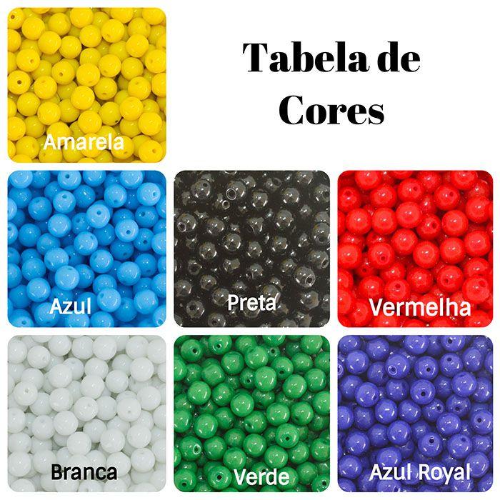 Contas de Porcelana Colorida 8mm - Pacote - CV230  - ArtStones