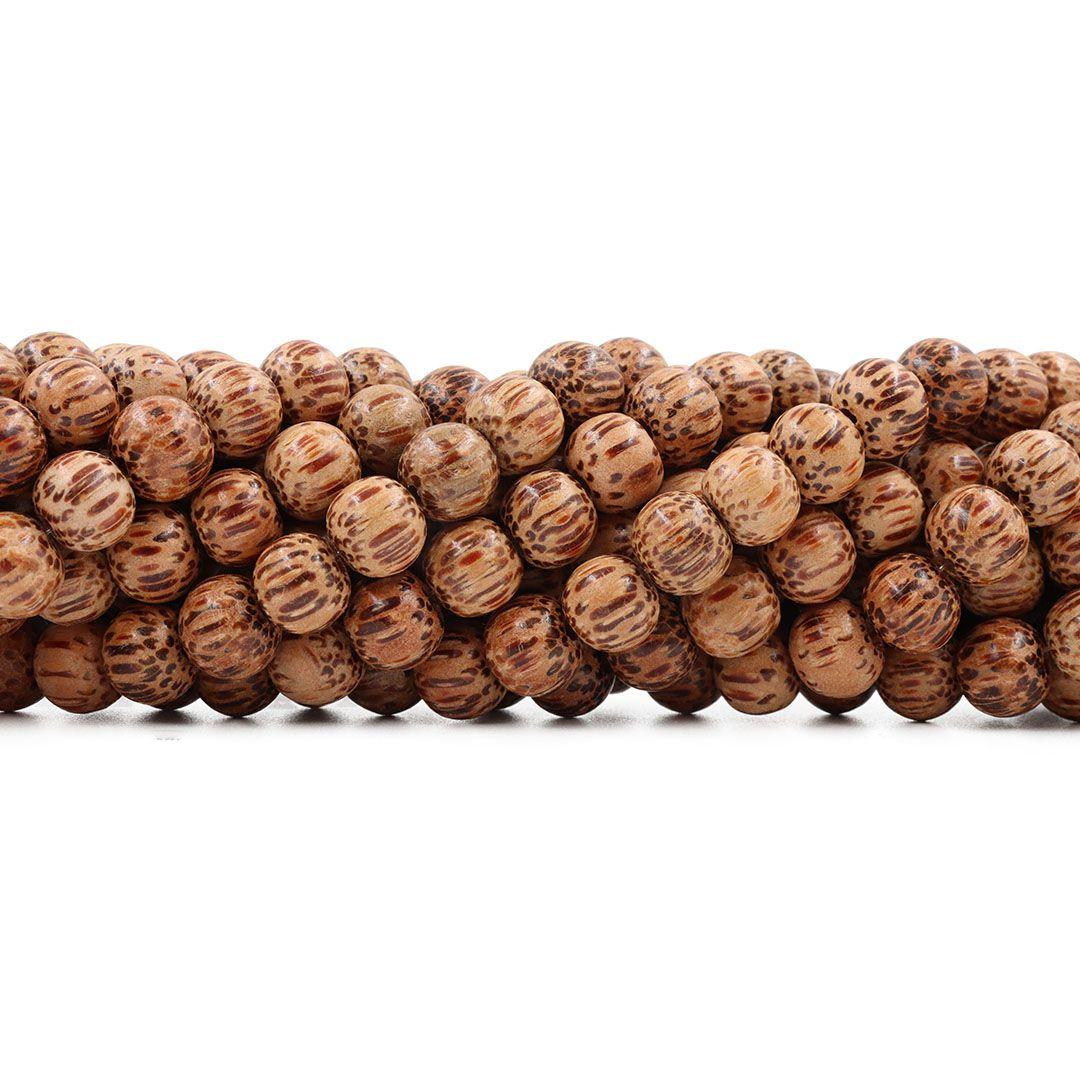 Contas de Coco Natural 8mm - Fio - CM025  - ArtStones