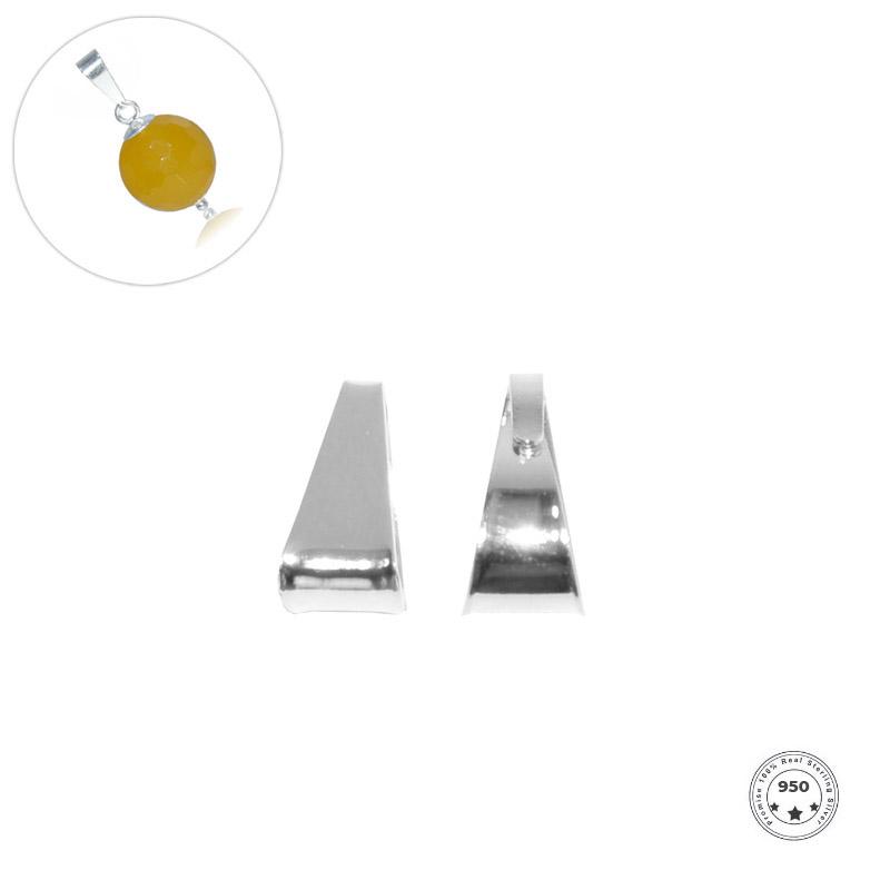 Contra Argola 7x3mm em Prata 950 - 4 Peças - PR042  - ArtStones