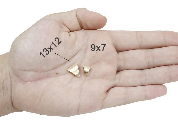 Contra Argola Jateada Follheada - 13x12mm - 4 pçs - FO224  - ArtStones