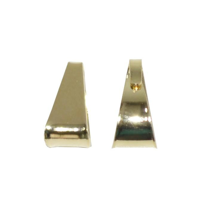 Contra Argola Lisa Folheada 7x3mm - 2 grs - FO111  - ArtStones