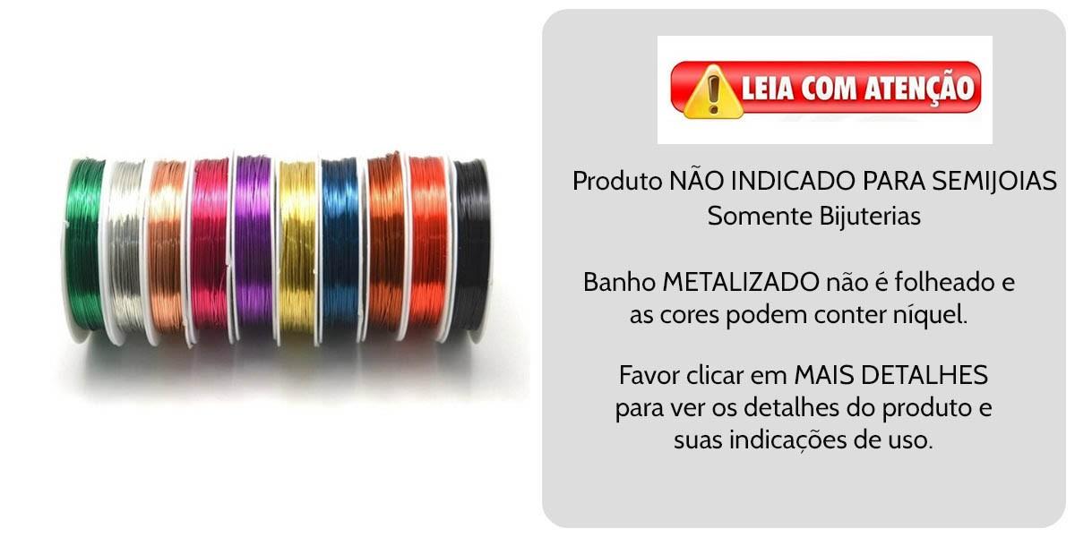 Fio Copper Colorido Espessura 0.50mm (Banho Chines)  7mts - MM092  - ArtStones