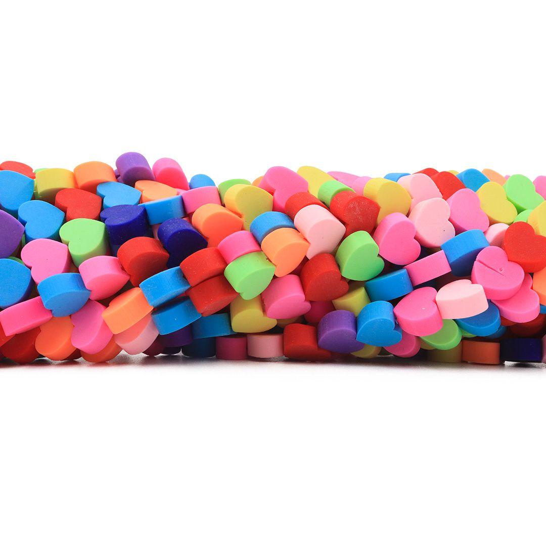 Fimo Coração Candy Diy Neon 9mm - FM07  - ArtStones