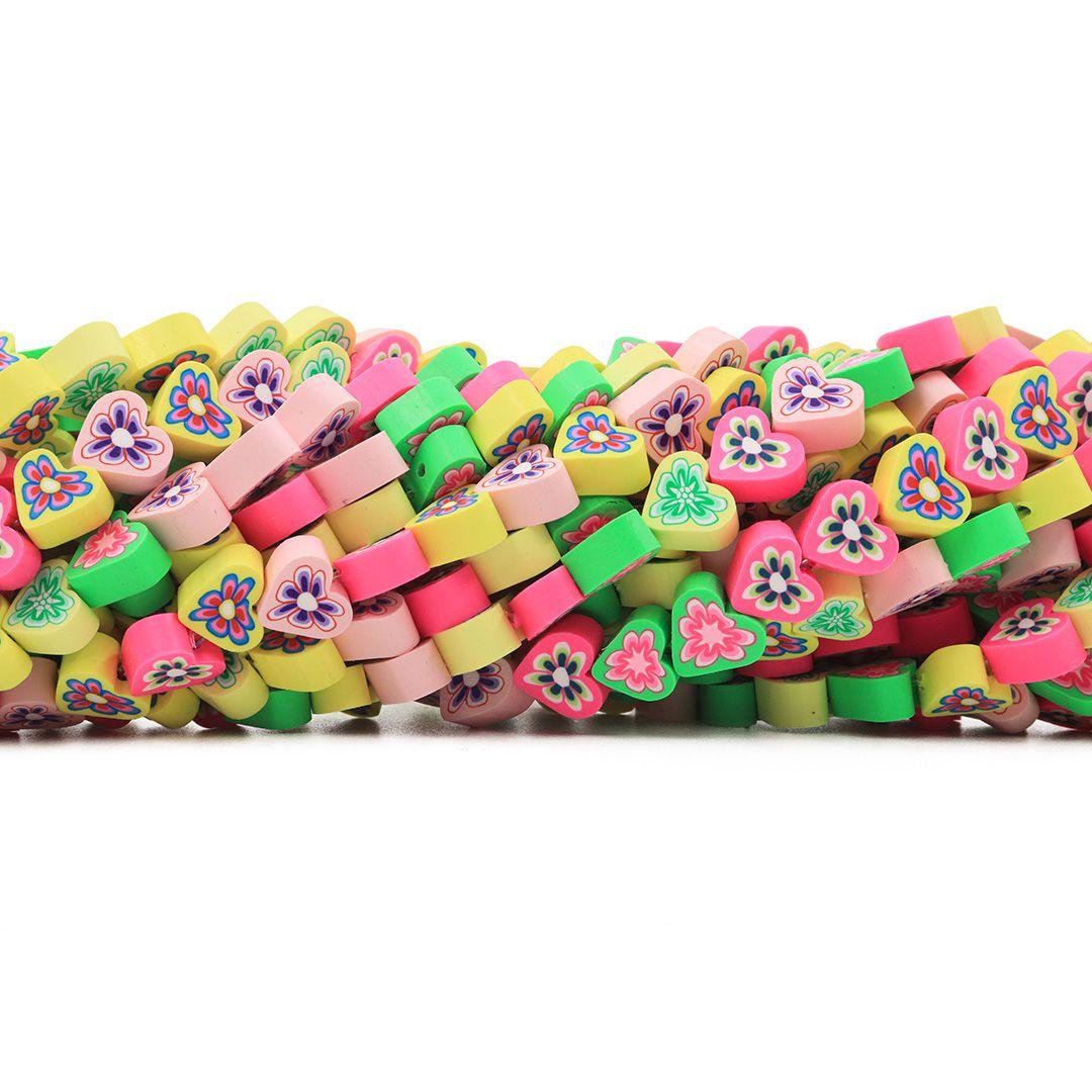 Fimo Coração Primavera Candy Diy  9mm - FM06  - ArtStones